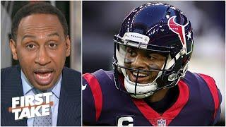 Stephen A. reacts to Deshaun Watson requesting a trade from the Texans | First Take