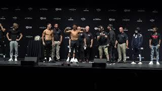 AUSTIN MCBROOM VS BRYCE HALL FIERY WEIGH-IN IN FRONT OF THOUSANDS OF SCREAMING FANS (FULL UNDERCARD)