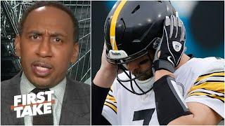 The Steelers can't win a playoff game without running the football! - Stephen A. | First Take
