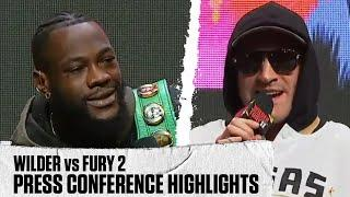 Highlights from today's Final Press Conference featuring Wilder and Fury |  WILDER vs FURY 2