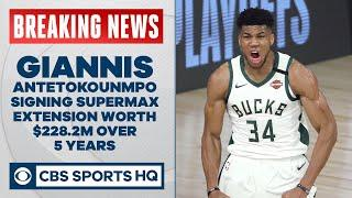Giannis Antetokounmpo signing historic supermax extension with Bucks | CBS Sports HQ