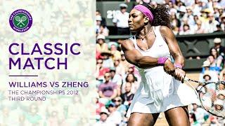 Serena Williams vs Jie Zheng | Wimbledon 2012 third round | Full Match