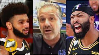 John Calipari reacts to Anthony Davis' & Jamal Murray's performance in Lakers vs. Nuggets | The Jump