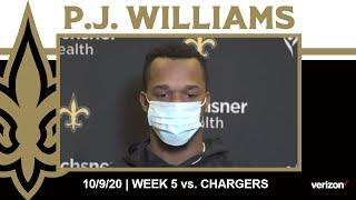 P.J. Williams Talks Chargers Offense, Week 5 Defensive Game Plan | Saints vs. Chargers Week 5 2020