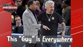 Guy Fieri on his memorable sports moments with Stephen A., Steph Curry & Tom Brady | SportsNation