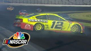 Brickyard 400: Ryan Blaney loses control, spins into wall | Motorsports on NBC