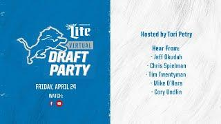 2020 Detroit Lions Virtual Draft Party | Day 2