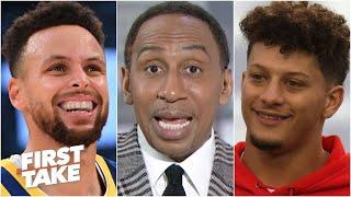 Stephen A. reacts to Stephen Curry's comments about Patrick Mahomes | First Take