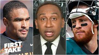 Do you believe Carson Wentz is on board with the Eagles drafting QB Jalen Hurts? | First Take
