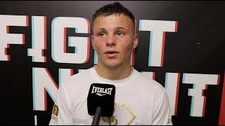 GEORGE BANCE COMES AWAY VICTORIOUS ON PROFESSIONAL DEBUT IN TELFORD, REACTS TO WIN / DUBOIS v DINU