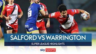 Krisnan Inu's late penalty snatches victory   Salford vs Warrington   Super League Highlights