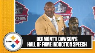 Dermontti Dawson's Pro Football Hall of Fame Induction Speech from 2012 | Pittsburgh Steelers