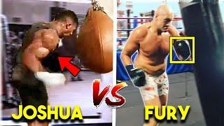 *NEW* AJ JOSHUA vs TYSON FURY TRAINING SIDE BY SIDE COMPARISON (STRENGTH and CONDITIONING ~LEAKED~)