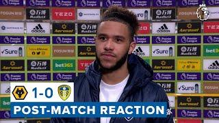 """""""We pushed to the very end but it just wasn't to be""""   Tyler Roberts   Wolves 1-0 Leeds United"""