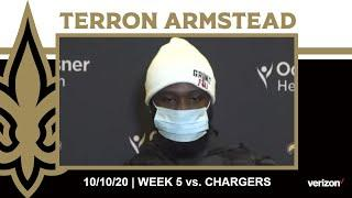 Terron Armstead on Offensive Communication, Chargers Defense | Saints vs. Chargers Week 5 2020