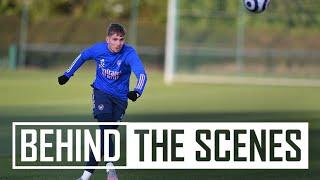 The squad get set for Everton!   Behind the scenes at Arsenal Training Centre
