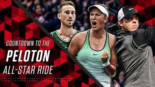 Countdown to ESPN's Peloton All-Star Ride featuring Gordon Hayward, Rory McIlroy, and more