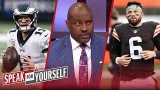 Wentz vs. Baker Mayfield, who has more to prove? — Wiley & Acho discuss | NFL | SPEAK FOR YOURSELF