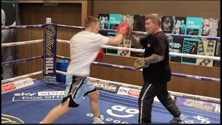 WOW -RICKY HATTON'S SON DESTROYS HIS DAD HANDS, SHOWS DEVASTATING POWER AFTER SIGNING w/ EDDIE HEARN
