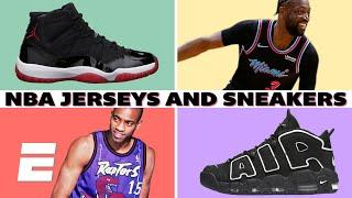 The best NBA jerseys and sneakers ever