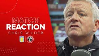 Chris Wilder | Aston Villa v Sheffield United | Postmatch Reaction Interview
