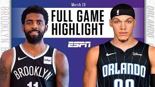 Kyrie Irving's 43 points not enough for Nets vs. Magic [FULL GAME HIGHLIGHTS] | NBA on ESPN