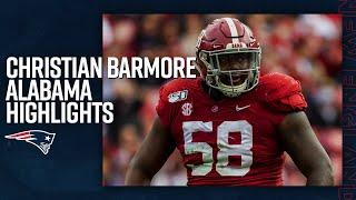 Christian Barmore College Highlights | DT, Alabama (New England Patriots)