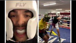 'I'M GONNA SMASH KELL BROOK!' - PRINCE NAZ'S SONS AADAM & SAMI SPAR WITH KELL BROOK & LIAM WILLIAMS