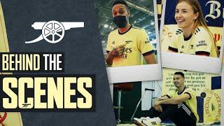 Behind the scenes at Arsenal's 2021/22 away kit shoot   Return of the Cannon