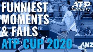 Funny Tennis Moments & Fails  | ATP Cup 2020