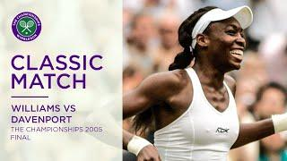 Venus Williams vs Lindsay Davenport | Wimbledon 2005 Final | Full Match