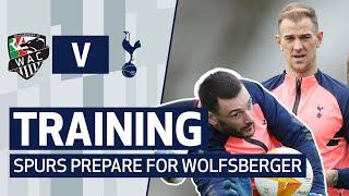 GOALKEEPER REBOUND REACTIONS! Spurs train ahead of Europa League knockout stage v Wolfsberger!