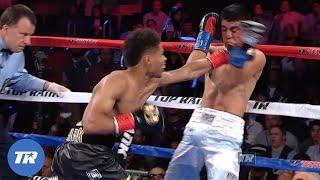 Shakur Stevenson Gets his 1st Pro Knockout Victory   FREE FIGHT ON THIS DAY.