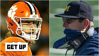 Discussing Clemson's chances without Trevor Lawrence & Jim Harbaugh's future at Michigan | Get Up