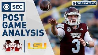 Mississippi ST vs #6 LSU: Leach's offense blows doors off LSU   Post Game Analysis   CBS Sports HQ