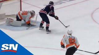Nicklas Backstrom Finishes Off Great Passing Play From Alex Ovechkin With Spin Move Goal