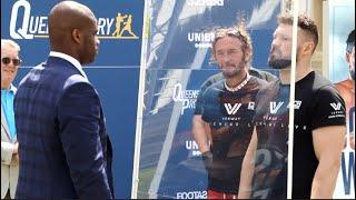 TRIPLE D! - DANIEL DUBOIS v ERIK PFEIFER HEAD-TO-HEAD WITH SAFETY SCREEN @ OUTDOOR PRESS CONFERENCE
