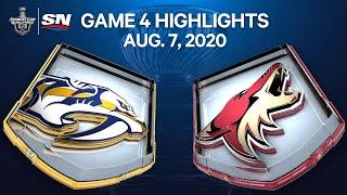 NHL Highlights | Predators vs. Coyotes, Game 4 - Aug. 07, 2020