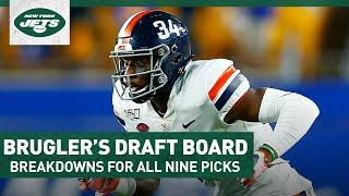 Brugler's Draft Board: Breakdowns For Every Jets Pick In 2020 NFL Draft | New York Jets | NFL Draft