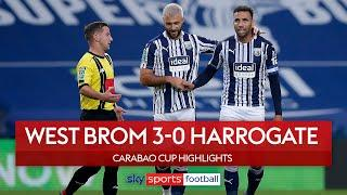 West Brom hit two stunners to progress  | West Brom 3-0 Harrogate Town | Carabao Cup Highlights