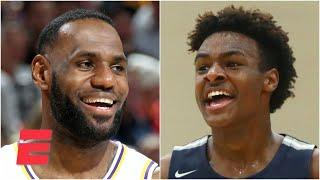Does LeBron James' new contract mean he and Bronny will play together in the NBA someday? | KJZ