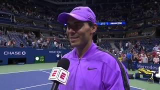 """Rafael Nadal: """"It means everything!""""   US Open 2019 Quarterfinal"""