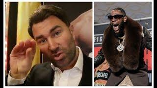 'WILDER NEVER F****** WANTED JOSHUA ALL ALONG!' - EDDIE HEARN MOST ANIMATED RANTS ON DEONTAY WILDER