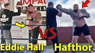 EDDIE HALL vs HAFTHOR BJORNSSON PADS TRAINING SIDE BY SISDE BOXING COMPARISON- WHO KNOCKS OUT WHO?
