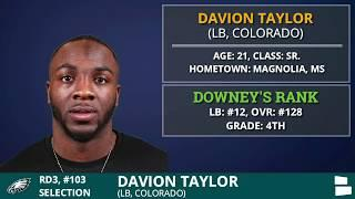 Philadelphia Eagles Draft OLB Davion Taylor of Colorado With 103rd In 3rd Round Of 2020 NFL Draft