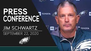 Jim Schwartz Discusses the Defense's Week 2 Performance & More | Eagles Press Conference