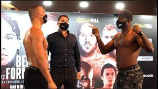 NO LARTEY, NO PARTY! - RICHARD LARTEY POINTS OUT WARNING TO FABIO WARDLEY (OFFICIAL WEIGH-IN)