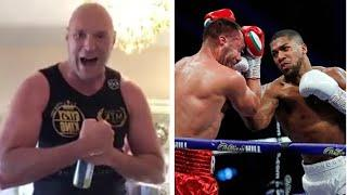 'JOSHUA JUST S*** HIMSELF LIVE ON TELEVISION!' - TYSON FURY RESPONDS TO ANTHONY JOSHUA KO OF PULEV