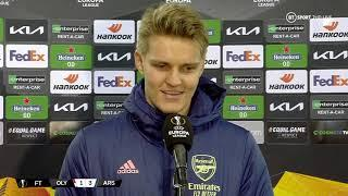 """""""I felt at home since the first day!"""" Martin Odegaard speaks after first Arsenal goal vs Olympiacos"""