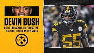Devin Bush on the LB room, playing time, his rookie season, improvements,  | Pittsburgh Steelers
